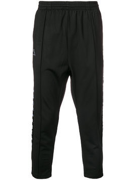 Kappa side logo track pants - Black