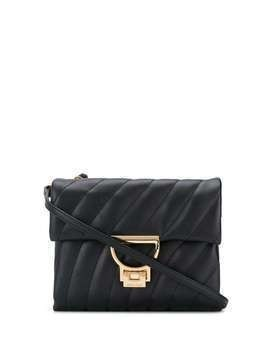Coccinelle quilted top-handle bag - Black