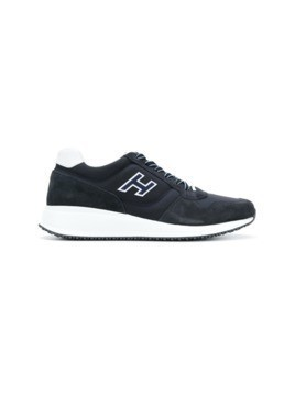 Hogan panelled sneakers - Blue