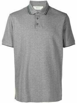 Z Zegna contrast piping polo shirt - Grey