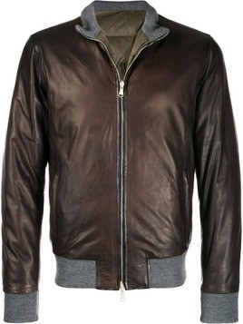 Barba leather jacket - Brown
