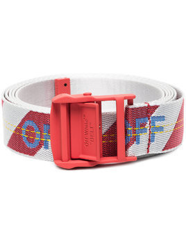Off-White Red Industrial Belt