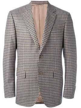Canali checked blazer - Brown