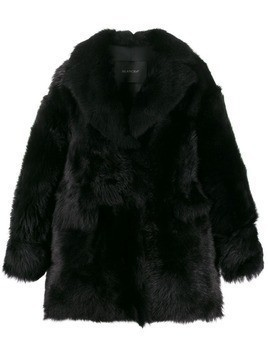Blancha shearling short coat - Black