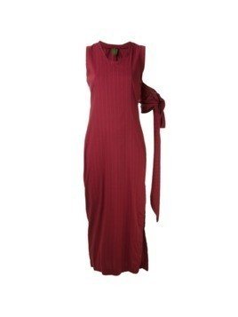 Romeo Gigli Vintage long pinstripe dress - Red