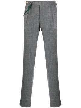 Berwich check-print tailored trousers - Grey