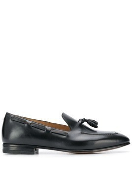 Francesco Russo tassel detail pointed loafers - Black