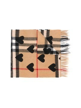 Burberry heart print scarf - Black