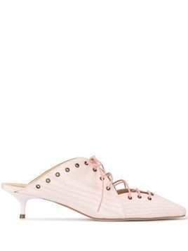 Rosie Assoulin Reinvented Spectator 35 lace-up mules - PINK