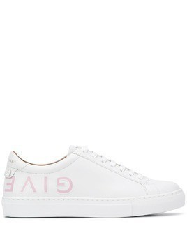 Givenchy logo low top sneakers - White