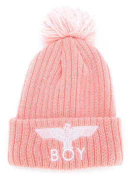Boy London Kids Eagle knitted beanie - Nude & Neutrals