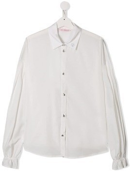 Miss Blumarine ruffled cuffs shirt - White