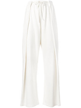 Mm6 Maison Margiela elasticated waist trousers - White