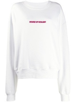 House of Holland logo embroidered sweatshirt - White