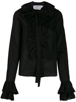 Milla Milla ruffle-trim shirt - Black