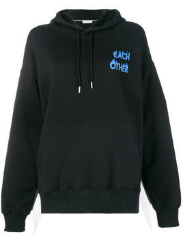 Each X Other logo print hoodie - Black