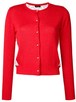 Loveless back lace cardigan - Red