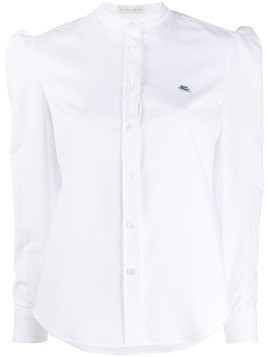Etro logo embroidered shirt - White