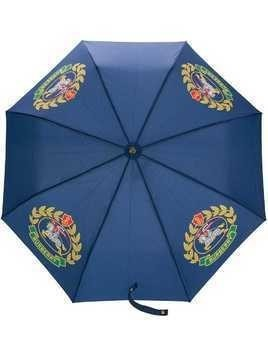 Burberry logo printed umbrella - Blue