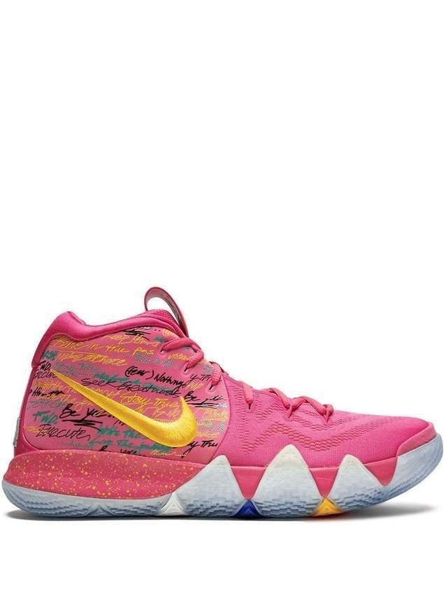"Nike Kyrie ""NBA 2K18 Road to 99"" 4 high-top sneakers - PINK"
