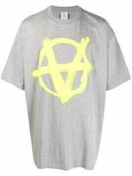 VETEMENTS Anarchy graphic-print T-shirt - Grey