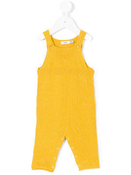 Knot knitted overalls - Yellow & Orange
