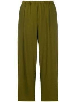 Apuntob patch pocket cropped trousers - Green