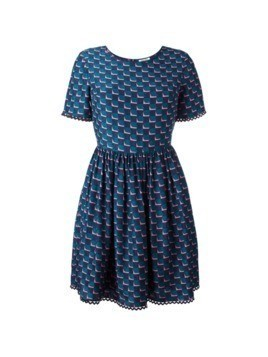 Kenzo fitted top, full skirt dress - Blue