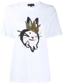Markus Lupfer Alex Bunny Foil Crown T-shirt - White