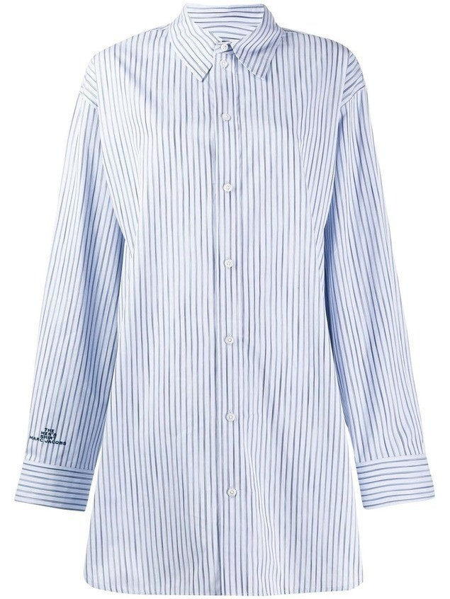 Marc Jacobs oversized striped shirt - Blue