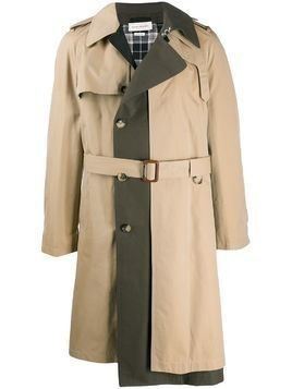 Alexander McQueen panelled trench coat - NEUTRALS