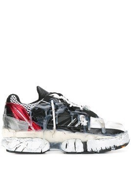 Maison Margiela distressed drip-effect sneakers - White