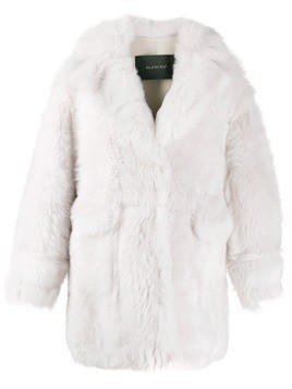 Blancha short shearling coat - White