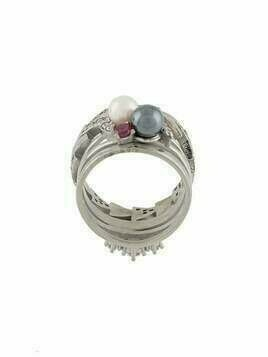 Maison Margiela pearl and gemstone ring - Metallic