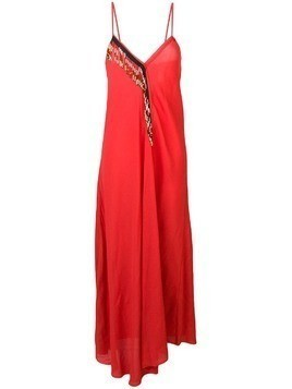 Giacobino embellished maxi dress - Red