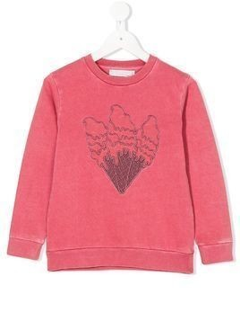 Stella Mccartney Kids Betty ice- cream sweatshirt - Pink & Purple