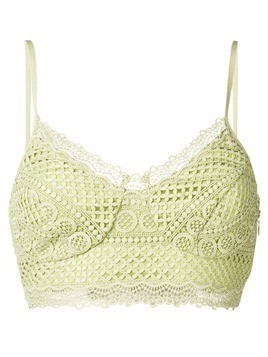 Charo Ruiz lace cropped top - Green