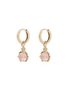 Andrea Fohrman 14kt yellow gold rose quartz earrings