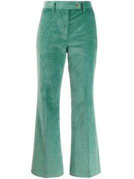 Acne Studios corduroy cropped trousers - Green