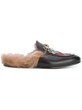 Gucci appliqué Princetown slippers - Black