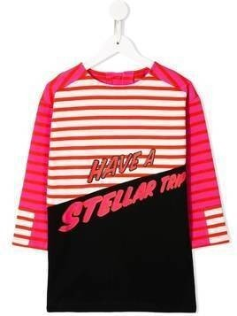 Stella McCartney Kids have a stellar trip print dress - PINK
