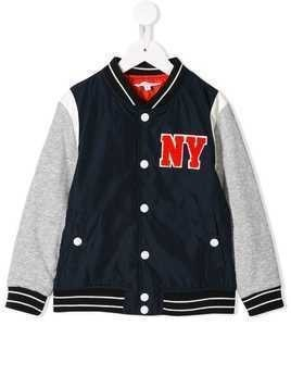 Little Marc Jacobs branded varsity jacket - Blue