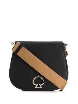 Kate Spade logo plaque shoulder bag - Black