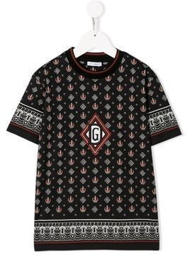 Dolce & Gabbana Kids crown print T-shirt - Black