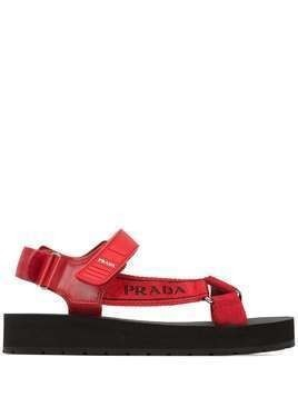Prada Nomad logo-strap sandals - Red
