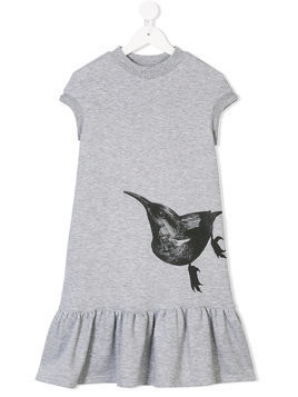 Ioana Ciolacu Kids bird print dress - Grey