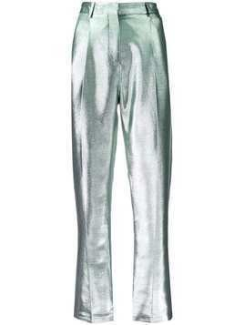 Indress metallic effect trousers - SILVER