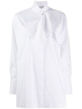 Balossa White Shirt ruched detail shirt