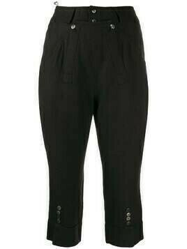 Christian Dior pre-owned tailored capri trousers - Black