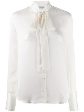 Balossa White Shirt tied neckline shirt